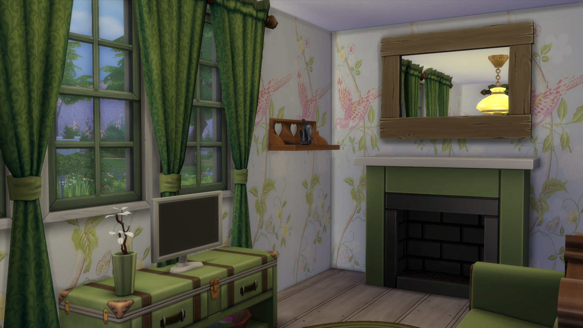 Click To Download Bring Some Cute Vintage Chic Your Sims Home With This Summer Palace Wallpaper From Laura Ashley