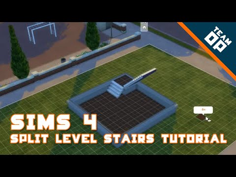 Sims 4 Split Level Stairs Tutorial