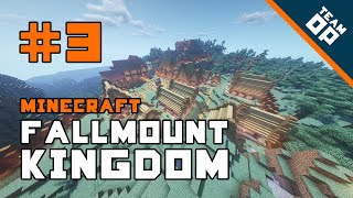 Ep 3. Minecraft Fallmount Kingdom: We have a town… almost!