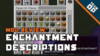 Minecraft Enchantment Descriptions Mod Review – TeamOP