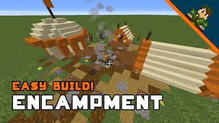Minecraft Medieval Encampment Build Tutorial